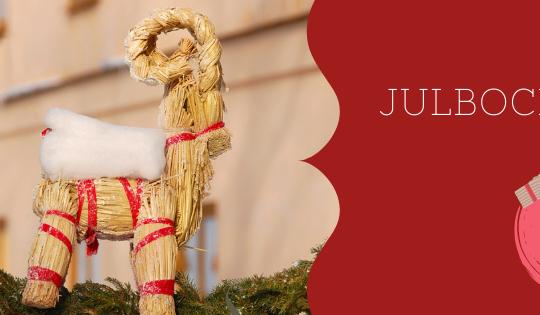 Julbocken, una cabra de paja, tiene un lugar importante en las tradiciones suecas.