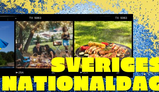 El 6 de junio se celebra el Día Nacional de Suecia - con banderas y barbacoa.