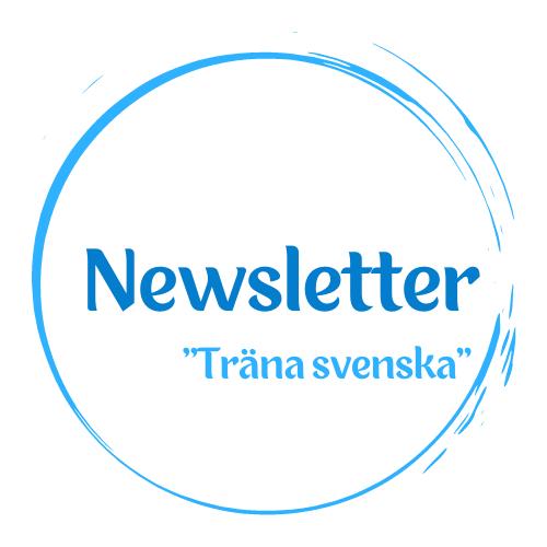 Suscríbete a mi newsletter en sueco